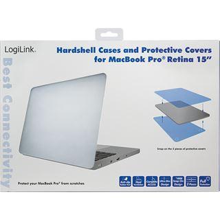 """LogiLink Schutzhülle für 15"""" MacBook Pro Retina, transparent"""