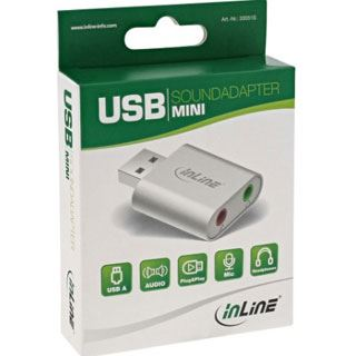 InLine USB Audio Soundkarte, Aluminium Gehäuse