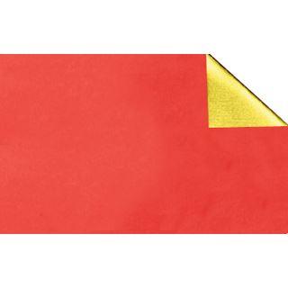 Ursus Alu-Bastelfolie, (B)500 x (L)800 mm, rot/gold