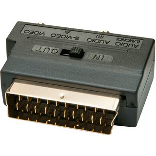 Lindy Scart-Adapter, S-VHS, S-Video, CV (3x RCA)