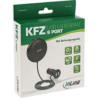 InLine USB KFZ Ladegerät Stromadapter, 9-32VDC zu 5V DC/9,4A, mit 1,5m Kabel