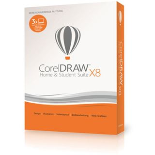 Corel CorelDraw Home & Student Suite X8 32 Bit Deutsch Vollversion 3 User PC (DVD)