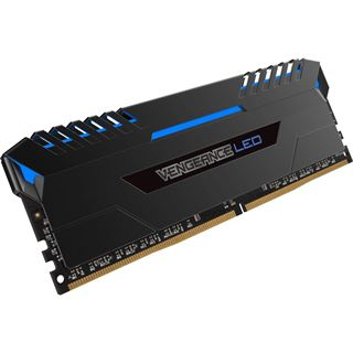 64GB Corsair Vengeance LED blau DDR4-3000 DIMM CL15 Quad Kit