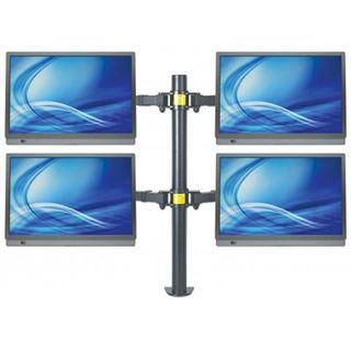 Manhattan Tischhalterung mit Monitorarm für vier Displays