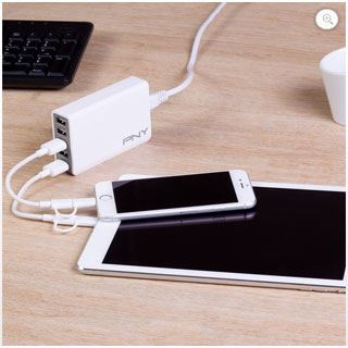 PNY MULTI-USB UK WALL-CHARGER