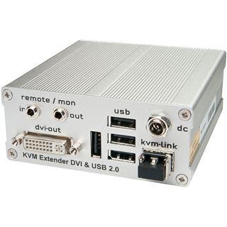Lindy KVM Extender DVI USB 2.0-RX LWL Duplex LC Receiver