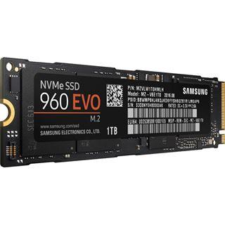 1000GB Samsung 960 Evo M.2 2280 NVMe PCIe 3.0 x4 32Gb/s 3D-NAND TLC Toggle (MZ-V6E1T0BW)