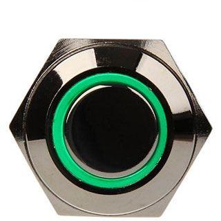 DimasTech Vandalismustaster 16mm Silverline grün