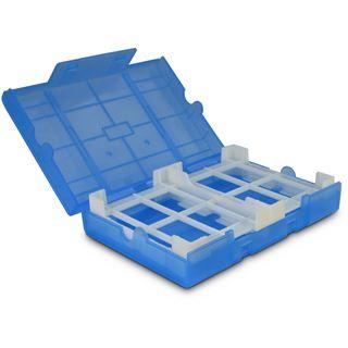 """Inter-Tech AC Schutz-Box 1x 3,5"""" oder 4x 2,5"""" Kunststoff Blau"""