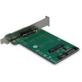 Inter-Tech AC Adapter KT008A, SATA zu mSATA, Card
