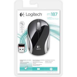 Logitech M187 Mini USB schwarz (kabellos)