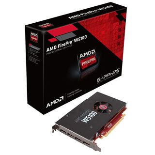 4GB AMD FirePro W5100 Aktiv PCIe 3.0 x16 (Retail)