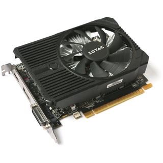 2GB ZOTAC GeForce GTX 1050 Mini Aktiv PCIe 3.0 x16 (Retail)