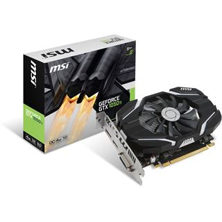 4GB MSI GeForce GTX 1050 Ti 4G OC Aktiv PCIe 3.0 x16 (Retail)