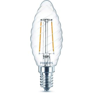 Philips LED-Kerzenlampe 2W Classic ST35 A++ E14 2700K EEK:A++ kl wws 250lm 300° AC