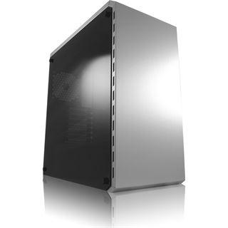 LC-Power 986S White Shadow mit Sichtfenster Midi Tower ohne Netzteil silber