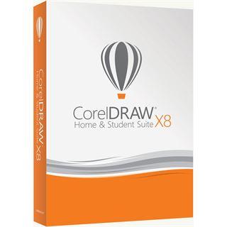 Corel CorelDraw Home & Student Suite X8 32 Bit Englisch Grafik Vollversion 3 User P (DVD)