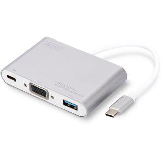 Digitus USB 3.0 - VGA Multiportadapter, weiß