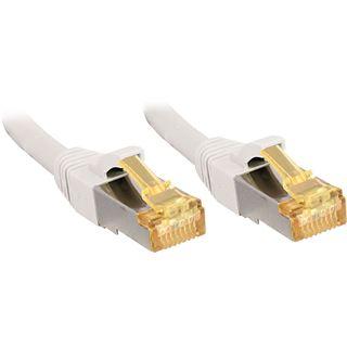 (€1,99*/1m) 15.00m Lindy Cat. 7 Rohkabel Patchkabel S/FTP PiMF RJ45 Stecker auf RJ45 Stecker Weiß Klinkenschutz / LSOH