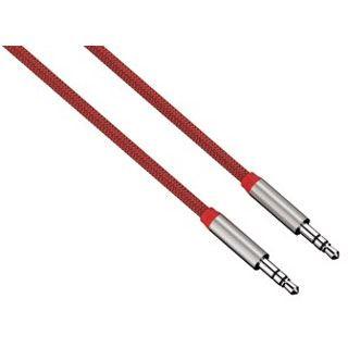 (€9,90*/1m) 1.00m Hama Audio Anschlusskabel 3.5mm Klinken-Stecker auf 3.5mm Klinken-Stecker Rot