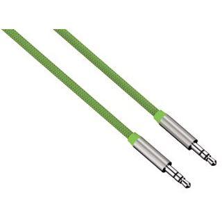 (€9,90*/1m) 1.00m Hama Audio Anschlusskabel 3.5mm Klinken-Stecker auf 3.5mm Klinken-Stecker Grün