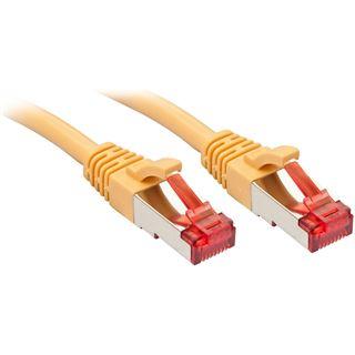 (€3,45*/1m) 2.00m Lindy Cat. 6 Patchkabel S/FTP PiMF RJ45 Stecker auf RJ45 Stecker Gelb geschirmt / Klinkenschutz