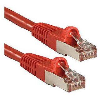 (€16,33*/1m) 0.30m Lindy Cat. 6 Patchkabel S/FTP PiMF RJ45 Stecker auf RJ45 Stecker Rot LSOH