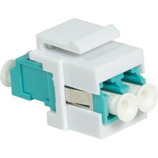 Logilink Keystone Modular Verbinder LC-Duplex Multi aqua/weiß