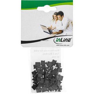 InLine Staubschutz für USB C Buchse schwarz 50er Pack