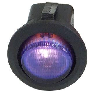 Phobya Wippschalter Rund - beleuchtet blau - 1-polig AN/AUS schwarz (3pin)