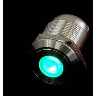 Phobya Vandalismus Klingeltaster 19mm Edelstahl, blau Punkt beleuchtet 6pin