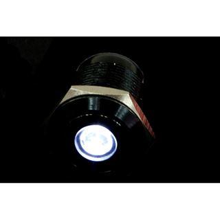 Phobya Vandalismus Klingeltaster 19mm Aluminium schwarz, weiß Punkt beleuchtet 6pin