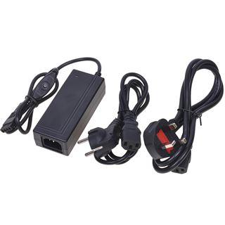 Phobya Externes Netzteil mit Schalter 230V auf 4Pin Molex 24 Watt inkl. Euro/UK Stecker