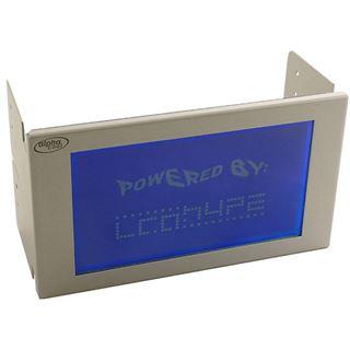 Alphacool LCD-Display 240x128 Pixel Blau neg. silber