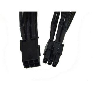Phobya 6Pin Netzteil Verlängerung Einzel Sleeving 30cm - Schwarz