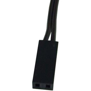 Phobya 2pin-Kabel Verlängerung Buchse/Stecker - 60cm