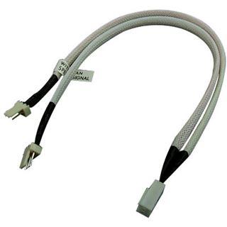 Phobya Y-Kabel 3Pin Molex auf 2x 3Pin Molex 30cm - UV Weiß