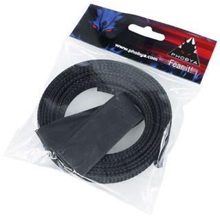 "Phobya Simple Sleeve Kit 13mm (1/2"") Schwarz 2m incl. Heatshrink 30cm"