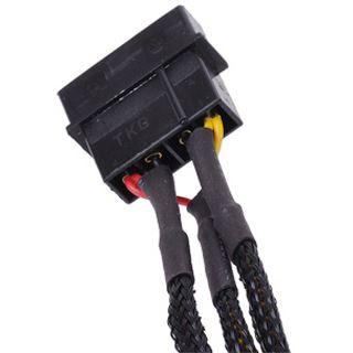 Phobya Adapter 4Pin Molex auf 3Pin 5V/7V/12V 30cm - Schwarz