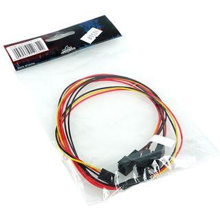 Phobya Y-Kabel 3Pin Molex auf 3x 3Pin Molex 60cm