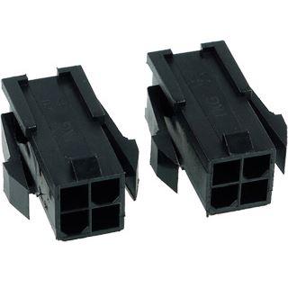 Phobya ATX Power Connector 4Pin Buchse inkl. 4 Pins - 2 Stück Black