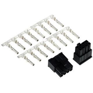 Phobya VGA Power Connector 8Pin Stecker inkl. 8 Pins - 2 Stück Black