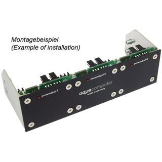 Aquacomputer Einbaublende für poweradjust 2/3 und farbwerk, Aluminium schwarz eloxiert