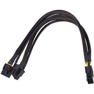 Phobya Y-Kabel 8Pin Buchse auf 2x 6+2Pin Stecker (VGA) - Schwarz