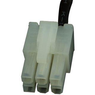 Phobya PCI-E Stromadapter 6pin -> 8pin PCI-E (oder 6pin + 2) 30cm - UV Weiß