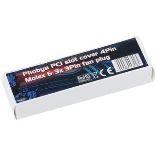 Phobya Slotblende 4Pin Molex & 3x 3Pin Lüfterstecker