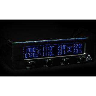 """Phobya TPC 4x Fan- or Pump-Controller 30Watt each Channel - Single Bay 5,25"""""""