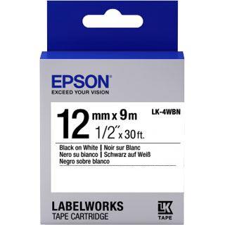Epson Tape LK4WBN STD BLK/WHT 12/9