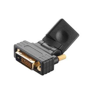 Akasa DVI-D Adapter DVI 24+1 Stecker auf HDMI-Buchse Schwarz 360° drehbar / flexibel