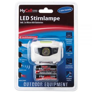 Ansmann LED-Stirnlampe, Leuchtweite ca. 50m, inkl. 3x Mignon AAA HighCell Batterien (1600-0077)